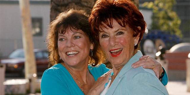 "Erin Moran (L) and Marion Ross in 2009. Ross, who is 89, says the ""Happy Days"" cast continues to keep Moran's memory alive."