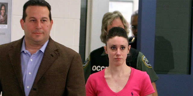 Casey Anthony was found not guilty of the first-degree murder of her daughter. Here, she is pictured with her attorney, Jose Baez.