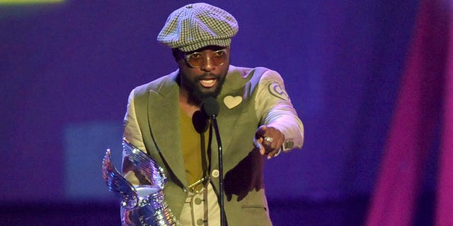 """Aug. 19, 2012: Musician will.i.am gives his acceptance speech for the """"Music Artist"""" award during the """"Do Something Awards"""" in Santa Monica, California."""