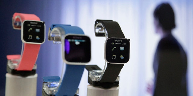 Sony's SmartWatch is on display during a press preview day before the official start of the IFA consumer electronics fair in Berlin, August 30, 2012. The IFA consumer electronics and home appliances fair will open its doors to the public from August 31 till September 5 in the German capital.