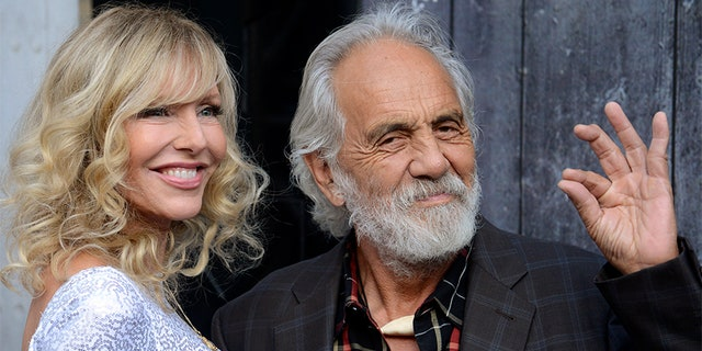Comedian Tommy Chong (R) and his wife Shelby Chong in Los Angeles.
