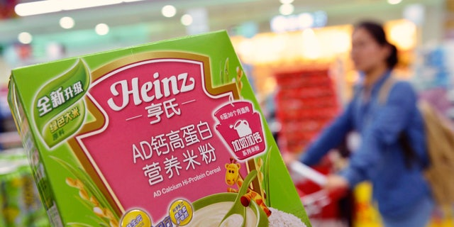 A box of Heinz AD Calcium Hi-Protein Cereal, which is part of a batch of the cereal not affected by a recent recall, is pictured at a supermarket in Hangzhou, Zhejiang province August 18, 2014.