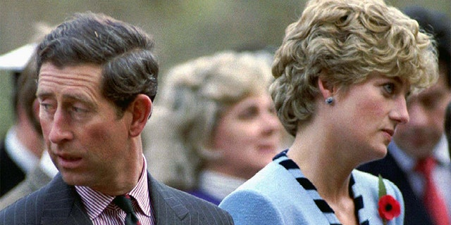 Prince Charles and Princess Diana in 1992.