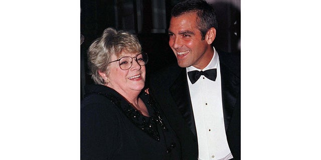 Rosemary Clooney with her nephew, actor George Clooney, enjoying a night out in Beverly Hills in 1998.