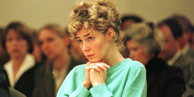 Mary Kay Letourneau, the former teacher who pleaded guilty to raping a 12-year-old student and then having a child from the affair, sits in a courtroom at the Regional Justice Center in Kent, Washington.