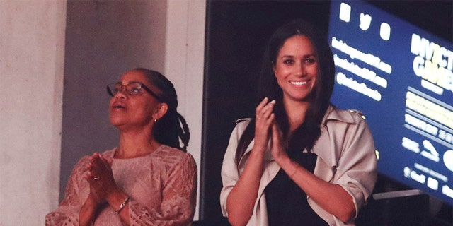 Markle with her mother, Doria Ragland, at the 2017 Invictus Games.