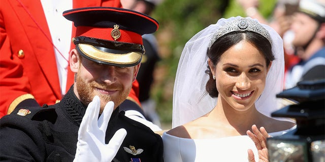 Meghan Markle on her wedding day to Prince Harry.