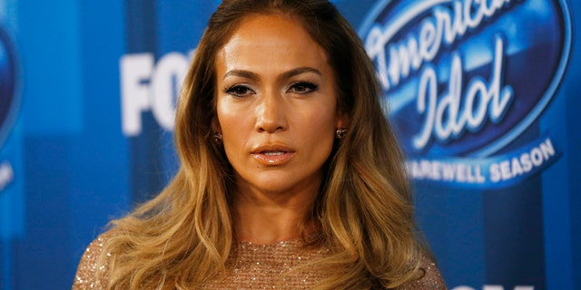 Singer Jennifer Lopez arrives at the American Idol Grand Finale in Hollywood, California April 7, 2016.