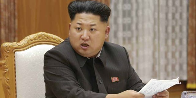 August 21, 2015: North Korean leader Kim Jong Un speaks at an emergency meeting of the Workers' Party of Korea Central Military Commission.