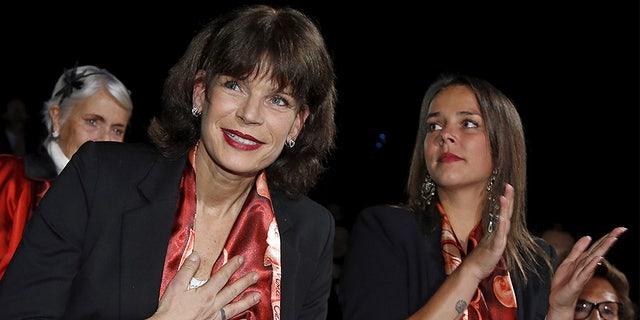 Princess Stephanie (left).