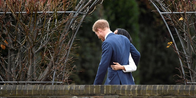 Britain's Prince Harry and American actress Meghan Markle after they announced their engagement in November 2017.