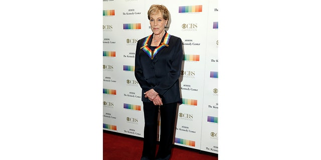 Singer and actor Julie Andrews arrives for the Kennedy Center Honors in Washington, U.S., December 3, 2017.