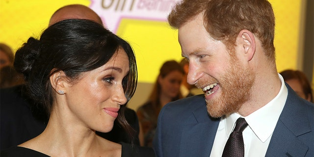 American actress Meghan Markle with Britain's Prince Harry.