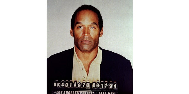 Former Hall of Fame football star OJ Simpson is shown in his official Los Angeles Police Department booking photo following his arrest for two murders, June 17, 1994.