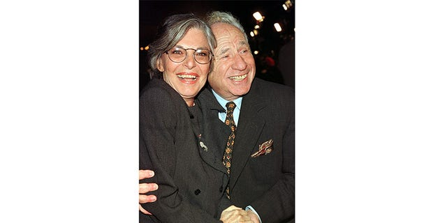 Mel Brooks and his wife Anne Bancroft.