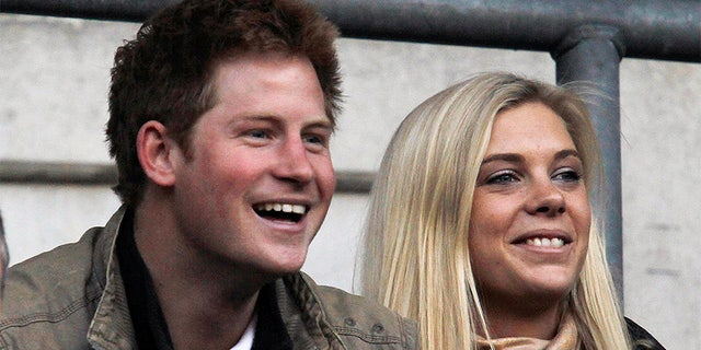 Britain's Prince Harry with Chelsy Davy during happier times in 2009.