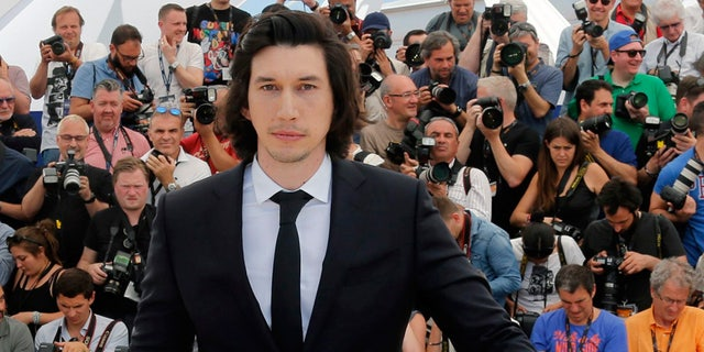"Cast member Adam Driver poses during a photocall for the film ""Paterson"" in competition at the 69th Cannes Film Festival in Cannes, France, May 16, 2016."