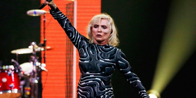 Debbie Harry of Blondie performs during the Amnesty International benefit concert in New York on February 5, 2014.