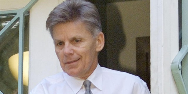 Rep. Gary Condit (D-CA), who in six terms in Washington became one ofthe powerful members of the state's Democratic delegation, leaves hisapartment building in Washington in this July 12, 2001 file photo. Thebody of intern Chandra Levy, who had a close relationship with Conditbefore she mysteriously disappeared more than a year ago, was found May22, 2002 in a park where she was known to jog. REUTERS/LarryDowning/filesME/TRA/MMR/SV - RTR5I0C