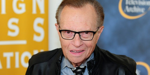 """Larry King said he had a """"slight stroke"""" earlier this year."""