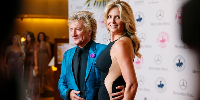 Rod Stewart with his wife Penny Lancaster.
