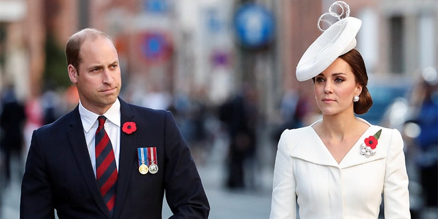 Duchess of Cambridge Kate Middleton with her husband Prince William.