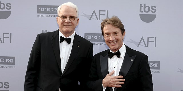 Comedians Steve Martin (left) and Martin Short have launched a new Netflix special and have chosen to keep President Trump out of it.