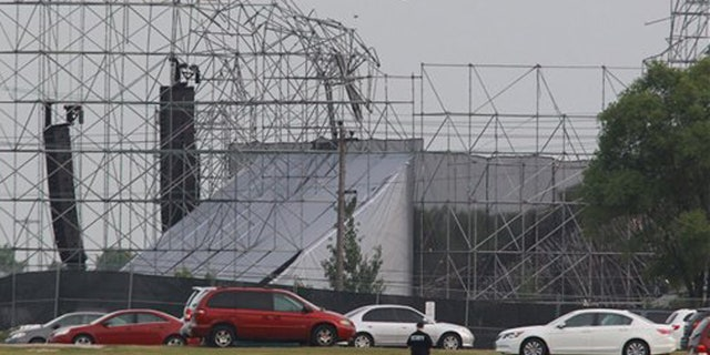 The roof collapsed killing a Radiohead band member in 2012.