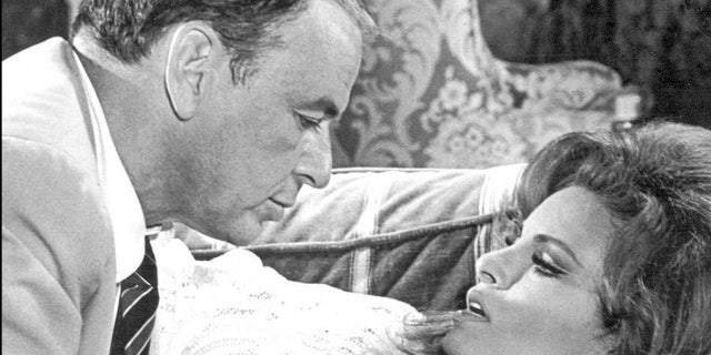 Raquel Welch with Frank Sinatra.