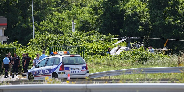 The helicopter used in the prison escape was found in a northeast suburb of Paris.