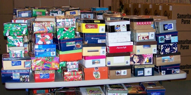 Boxes are loaded and ready to go for Operation Christmas Child.