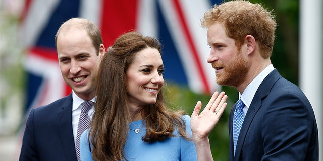 Prince Harry (right) has been accused of mirroring his brother William and Kate Middleton's wedding.
