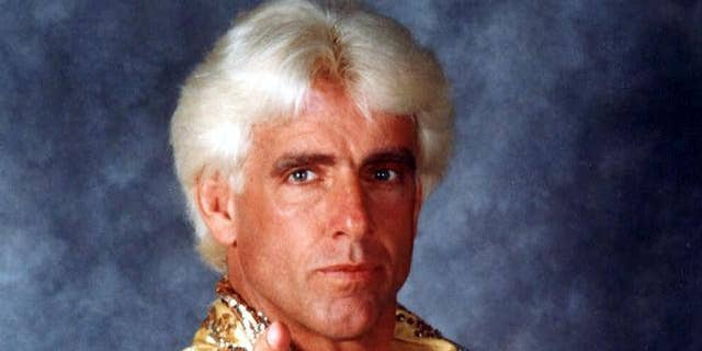 "Ric ""Nature Boy'' Flair is seen in this wrestling headshot photo."