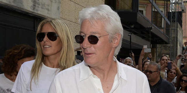 US actor Richard Gere arrives for the  61th Taormina Film Festival, in Taormina, Sicily Island, Italy, Wednesday, June 17, 2015. The festival runs from June 13 to 20. (Claudio Onorati/ANSA via AP) ITALY OUT