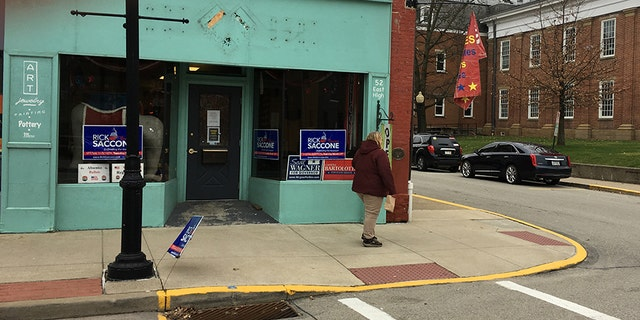 A campaign office for GOP congressional candidate Rick Saccone, in Waynesburg, part of Pennsylvania's southwestern coal country.