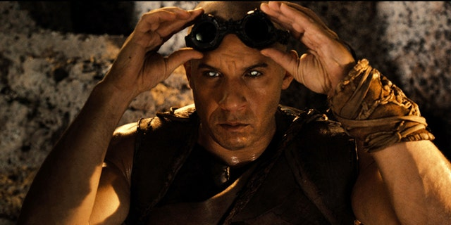 """This film image released by Universal Pictures shows Vin Diesel in a scene from """"Riddick."""""""