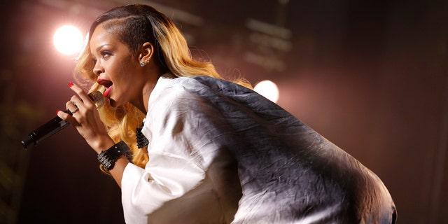 Singer Rihanna performs during the 12th Mawazine World Rhythms international music festival in Rabat.