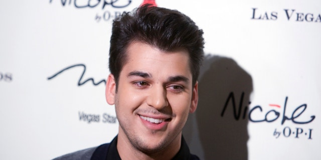 Television personality Rob Kardashian arrives at the opening of the Kardashian Khaos store at the Mirage Hotel and Casino in Las Vegas, Nevada December 15, 2011.