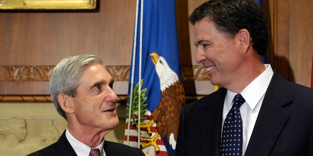 Congressional Republicans over the summer raised concerns over Special Counsel Robert Mueller's, at left, relationship with former FBI Director James Comey, at right.