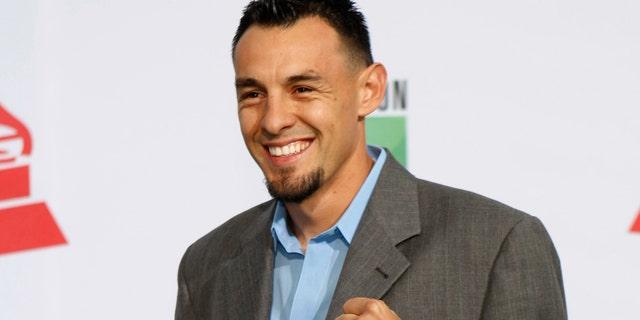 Nov. 11, 2011: Boxer Robert Guerrero arrives at the 12th annual Latin Grammy Awards in Las Vegas, Nevada.