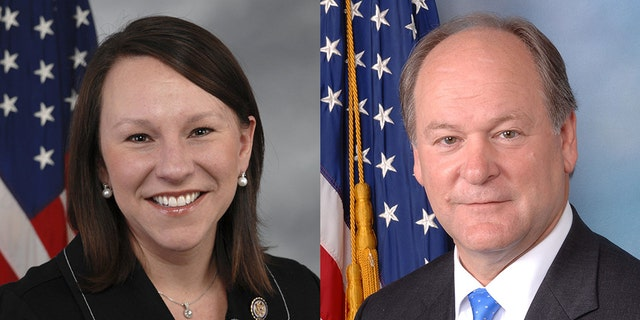 Rep. Martha Roby (left) and former Rep. Bobby Bright (right) face off in a Republican runoff election in July. Roby beat Bright for the current seat in 2010.