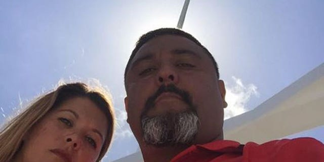 Rodney Buentello (right) with his wife. (Photo: via Facebook)