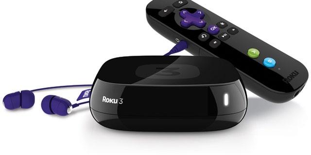 The Roku 3 streaming media device.
