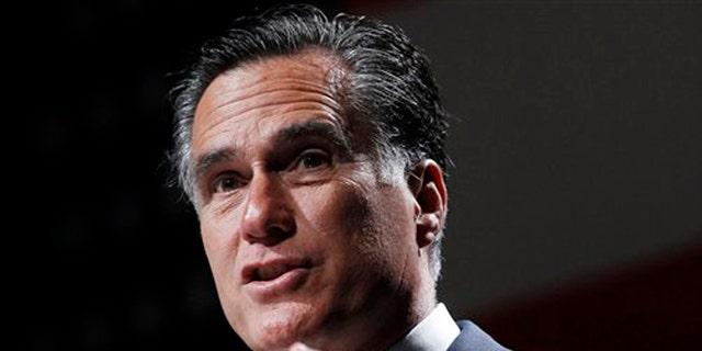 FILE:  June 21, 2012: Then-GOP presidential candidate Mitt Romney speak in Orlando, Fla.