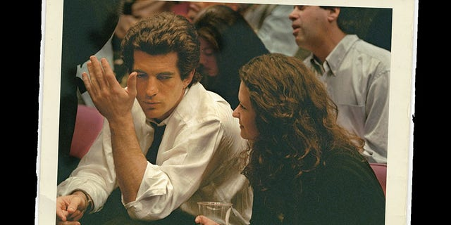 John F. Kennedy Jr. with his assistant Rosemarie Terenzio.