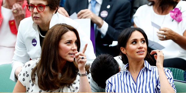 The royals, both 36, were all smiles for the high profile London match up.