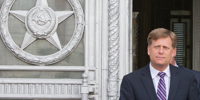 May 15, 2013: The U.S. Ambassador to Russia Michael McFaul leaves the Foreign Ministry in Moscow, Russia.