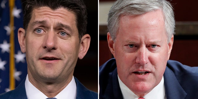 House Speaker Paul Ryan, R-Wis., left, and Rep. Mark Meadows, R-N.C., were seen in a heated confrontation on the House floor.