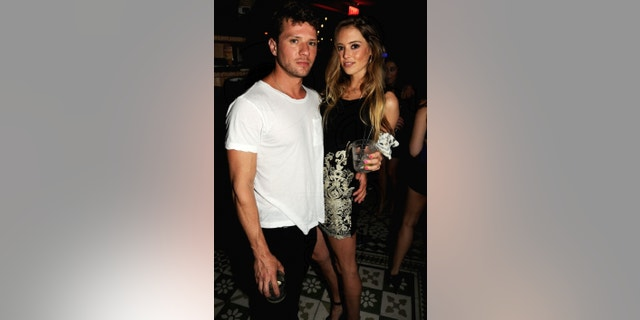Ryan Phillippe and Paulina Slagter spotted in at Miami's Hyde Beach at SLS South Beach.