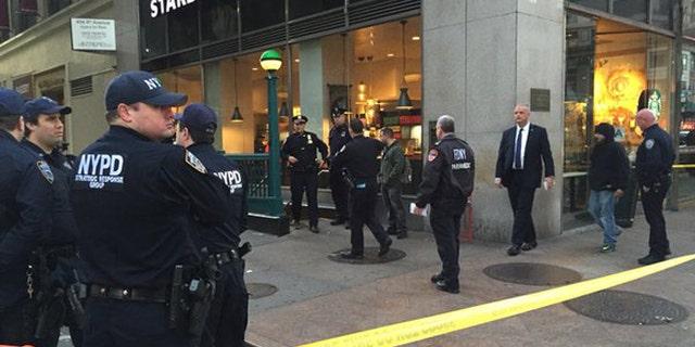 Three people were shot near Penn Station on Monday morning.